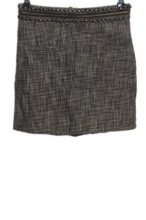 H&M Minirock weiß-schwarz meliert Casual-Look