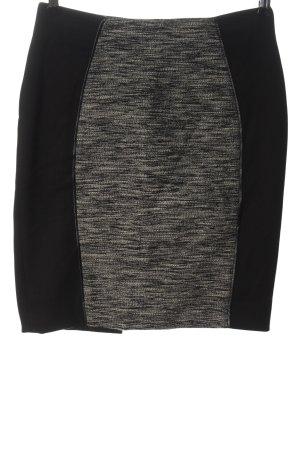 H&M Minirock schwarz-hellgrau meliert Casual-Look