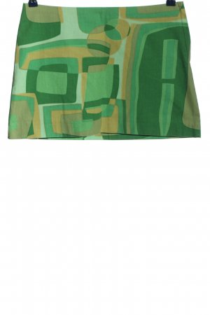 H&M Mini rok groen-licht Oranje abstract patroon casual uitstraling