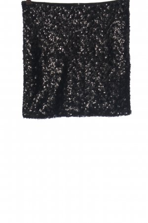 H&M Minirock silberfarben Elegant