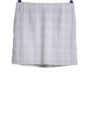 H&M Miniskirt light grey-white check pattern casual look