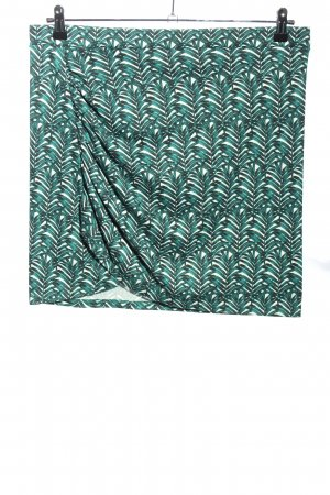 H&M Minirock grün-weiß Allover-Druck Casual-Look