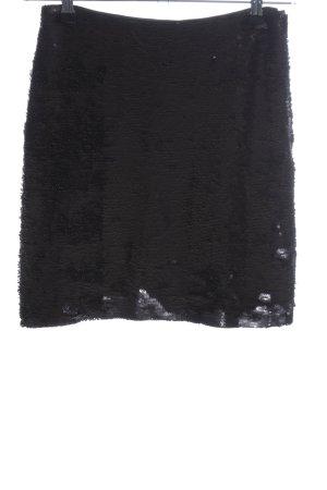 H&M Minirock schwarz-silberfarben Farbverlauf Elegant