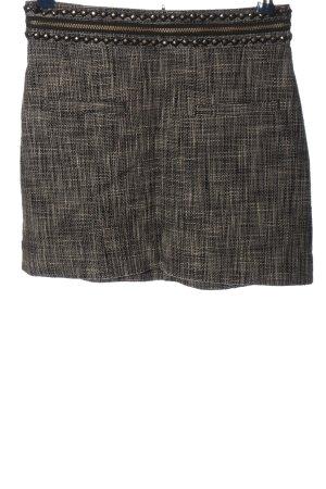 H&M Minirock schwarz-weiß meliert Casual-Look