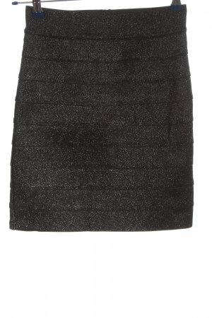 H&M Minirock schwarz Glanz-Optik