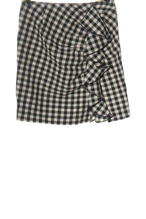 H&M Minirock schwarz-wollweiß Allover-Druck Casual-Look