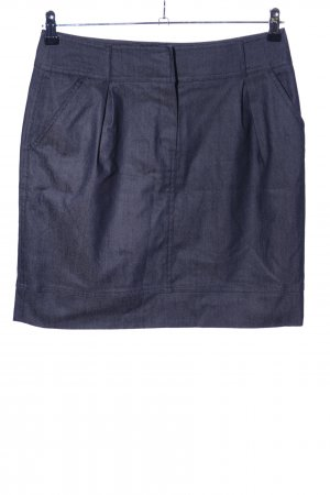 H&M Minirock blau Business-Look
