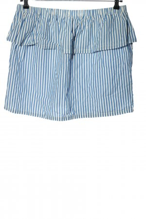 H&M Minirock blau-weiß Streifenmuster Casual-Look