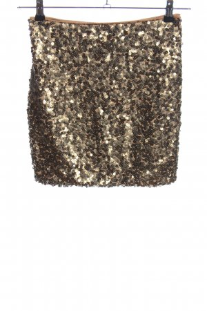 H&M Minirock goldfarben extravaganter Stil