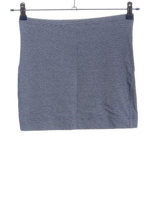 H&M Minirock blau-weiß meliert Casual-Look