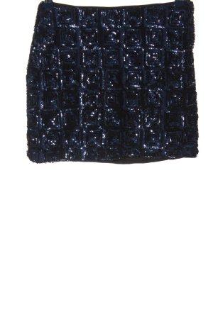 H&M Minirock schwarz-blau Casual-Look