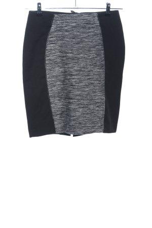 H&M Minirock schwarz-hellgrau meliert Business-Look