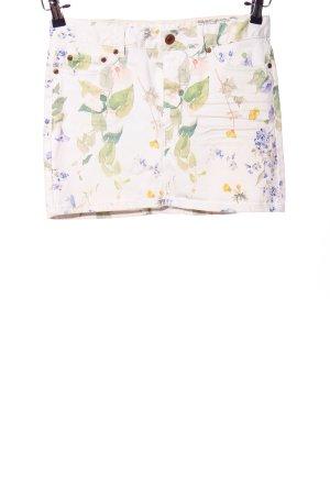 H&M Minirock Blumenmuster Casual-Look
