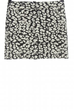 H&M Minirock wollweiß-schwarz Allover-Druck Casual-Look