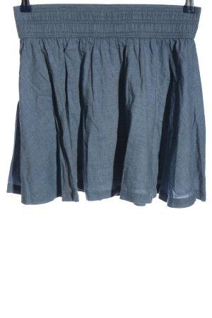 H&M Minirock blau Webmuster Casual-Look