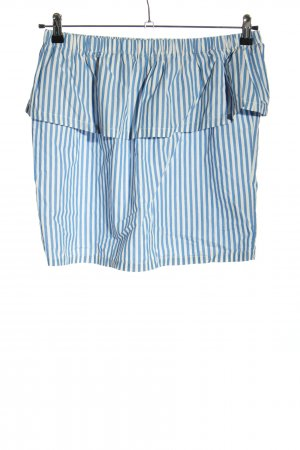 H&M Minirock blau-weiß Allover-Druck Casual-Look