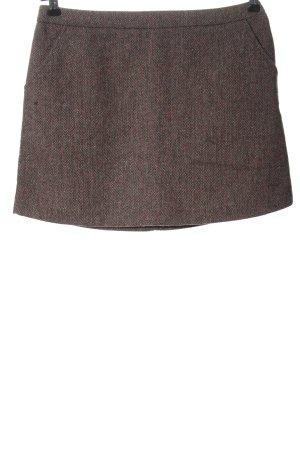 H&M Minirock braun meliert Casual-Look