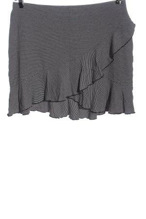 H&M Minirock schwarz-weiß Streifenmuster Casual-Look