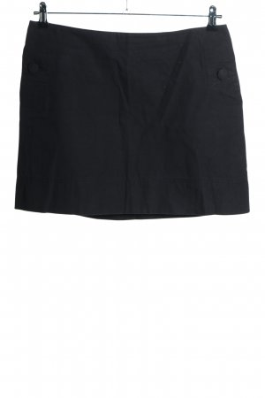 H&M Miniskirt black-silver-colored business style