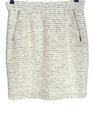 H&M Minirock weiß-schwarz Streifenmuster Casual-Look
