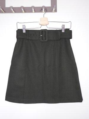H&M Minirock dunkelgrün