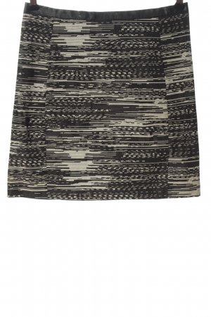 H&M Minirock schwarz-creme meliert Casual-Look