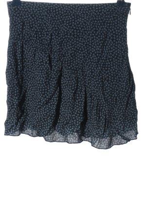 H&M Minirock schwarz-blau Allover-Druck Casual-Look