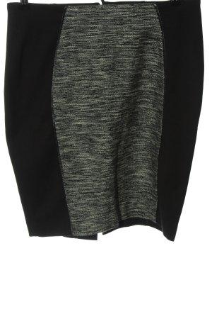 H&M Minirock schwarz-wollweiß meliert Elegant