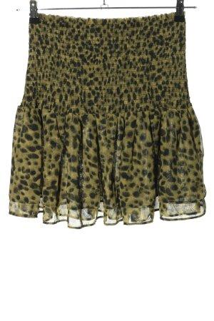 H&M Minirock khaki-schwarz Leomuster Casual-Look