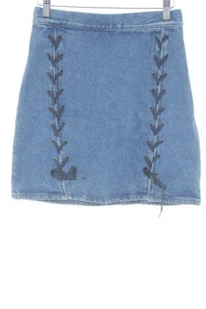 H&M Minirock kornblumenblau Casual-Look