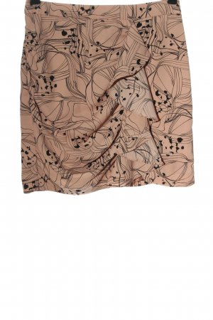 H&M Minirock nude-schwarz abstraktes Muster Casual-Look