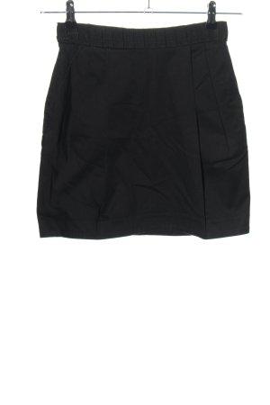 H&M Spódnica mini czarny W stylu biznesowym
