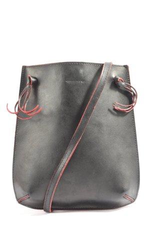 H&M Torebka mini czarny-czerwony W stylu casual