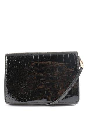 H&M Minitasche schwarz Animalmuster Casual-Look