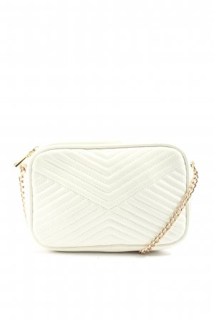 H&M Mini sac blanc motif de courtepointe style décontracté