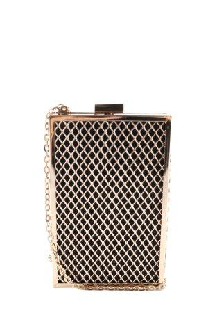 H&M Minitasche schwarz-goldfarben Elegant