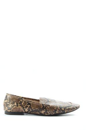 H&M Mokassins braun-schwarz Animalmuster extravaganter Stil