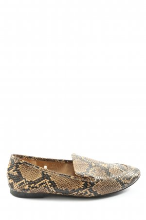 H&M Moccasins brown-black allover print casual look