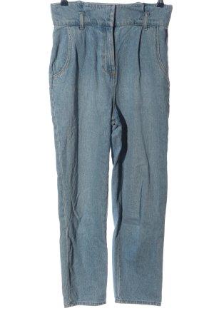 H&M Mom-Jeans blau meliert Casual-Look