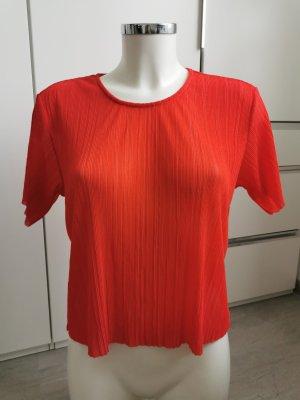 H&M Monki T-Shirt rot durchsichtig XS
