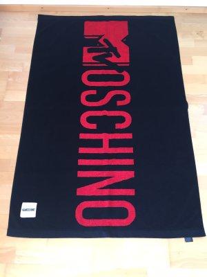 Moschino Serviette de plage noir-rouge