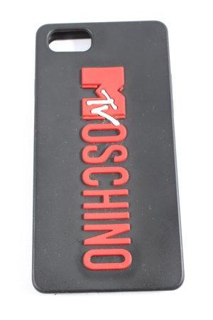 h&m moschino Pokrowiec na telefon komórkowy czarny-czerwony Wydrukowane logo