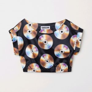 h&m moschino Cropped Shirt multicolored