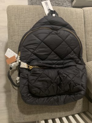 Moschino Trekking Backpack black-gold-colored