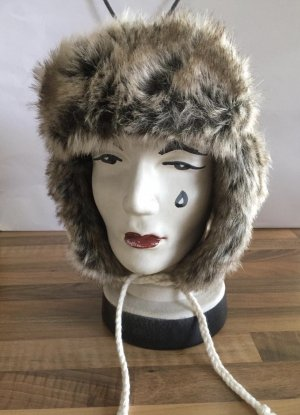 H&M Aviator Hat natural white-brown