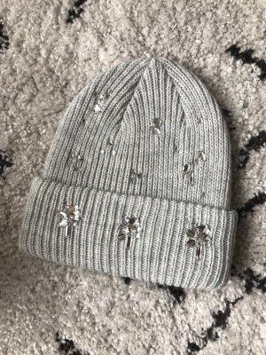 H&M Cappello a maglia grigio-argento