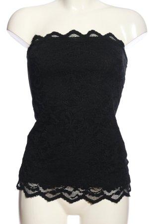 H&M Top a fascia nero motivo floreale elegante