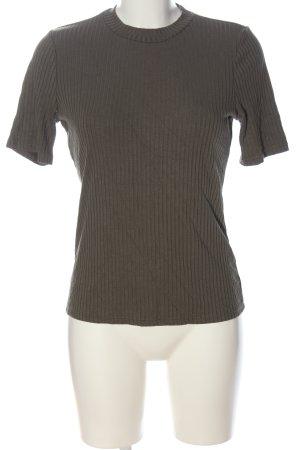 H&M T-Shirt khaki Streifenmuster Casual-Look