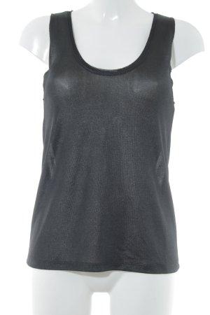 H&M Muskelshirt schwarz sportlicher Stil