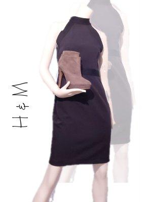 H&M Neckholder-Kleid Dunkelblau Gr. 38 - Neu